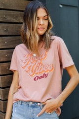 Good Vibes Only Vintage Graphic Tee Front View