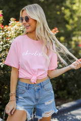 Pink - Charleston Script Tee from Dress Up