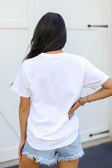 White Chop Chop Graphic Tee Back View