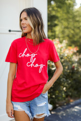Red Chop Chop Graphic Tee Front View