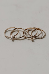 Gold - Pearl Ring Set from Dress Up