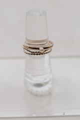 Close Up of a Pearl Ring Set in Gold
