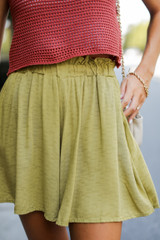 Lime - Paperbag Waist Shorts from Dress Up