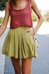 Paperbag Waist Shorts Front View