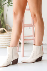 Dress Up model wearing Pointed Toe Booties
