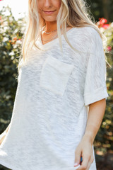 White - Knit Tee from Dress Up