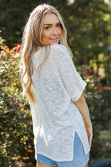 Knit Tee in White Back View