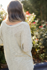 Knit Tee in Sage Back View