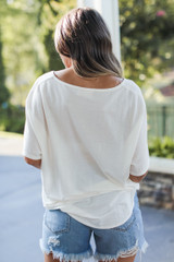 Tie-Front Top Back View