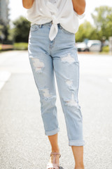 Light Wash - High-Rise Mom Jeans from Dress Up