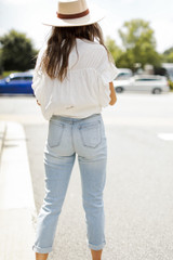 High-Rise Mom Jeans Back View