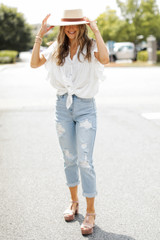 High-Rise Mom Jeans Front View