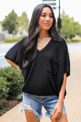 Oversized Knit Top Front View