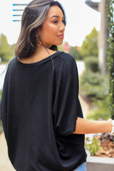 Oversized Knit Top Back View