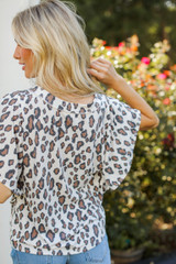 Leopard Top Back View