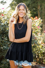 Black - Tiered Tank from Dress Up