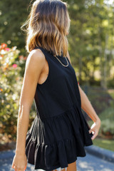 Tiered Tank in Black Side View