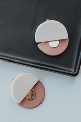 Ivory - Acrylic Statement Earrings from Dress Up