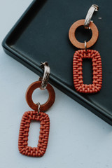 Coral - Flat Lay of Statement Drop Earrings