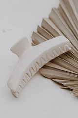 Ivory - Claw Hair Clip on a white background