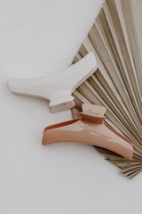 Ivory - Claw Hair Clips on a white background
