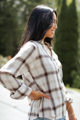 Flannel in White Side View