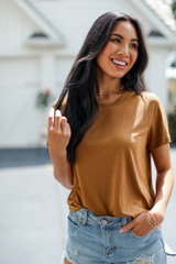 Brown - Dress Up model wearing an Everyday Tee