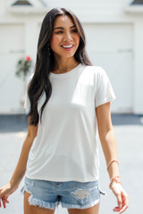 White - Everyday Tee Front View