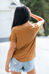 Everyday Tee in Brown Back View