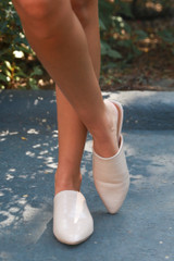 Pointed Toe Mules on model