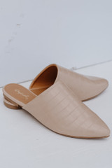 Taupe - Pointed Toe Mules from Dress Up