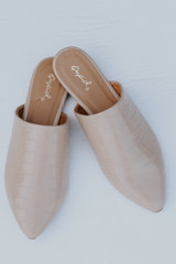 Pointed Toe Mules Front View