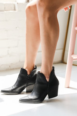 Pointed Toe Booties Side View