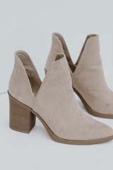 Taupe - Flat Lay of Ankle Booties