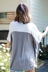 Color Block Top Back View