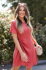 Rust - Ruched Dress from Dress Up