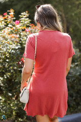 Ruched Dress Back View