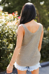 Sweater Tank Back View