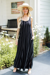 Striped Maxi Dress Front View