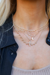 Gold - Cross Layered Necklace
