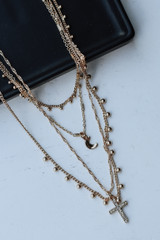Gold - Cross Layered Necklace from Dress Up