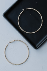 Gold - Textured Large Hoops from Dress Up