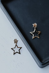 Gold - Star Drop Earrings from Dress Up
