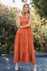 Tiered Maxi Dress Front View
