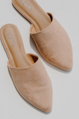 Close Up of Pointed Toe Mules