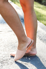 Pointed Toe Mules Side View