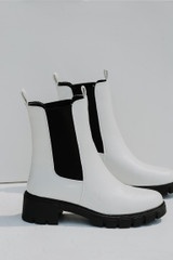 White - Flat Lay of Chelsea Boots