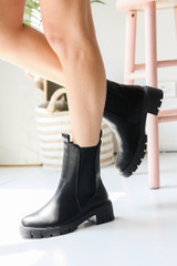 Chelsea Boots in Black Side View