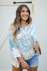 Teal - Tie-Dye Top from Dress Up