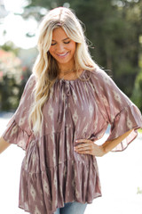 Mauve - Tiered Blouse from Dress Up